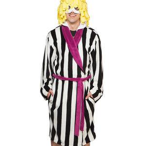 Beetlejuice Striped Suit Hooded Men Robe 2X/3X